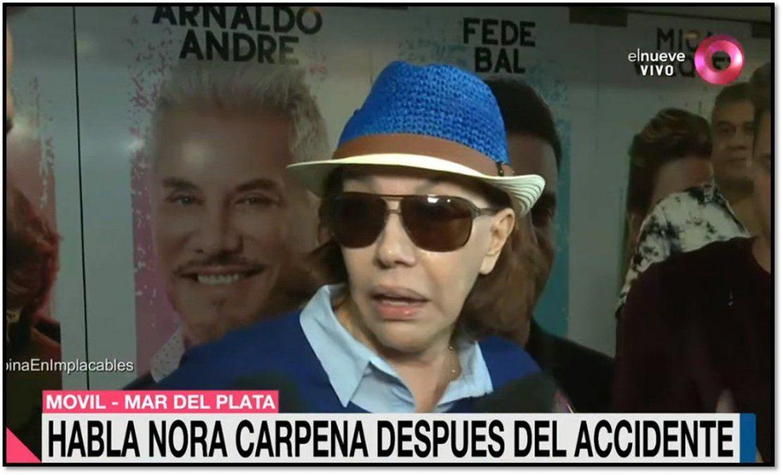 Después del accidente en el cementerio Nora Cárpena volvió a las funciones y contó qué cree que sucedió