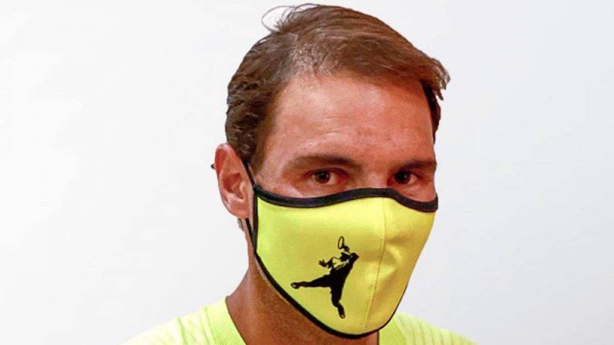 Rafa Nadal usa mascarillas de su propia Academia