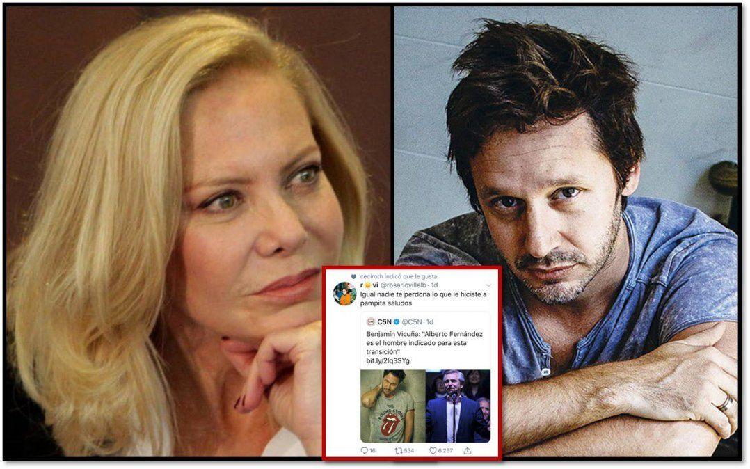 Cecilia Roth vs Benjamín Vicuña: en Twitter apoya a los que no le perdonan lo que le hizo a Pampita