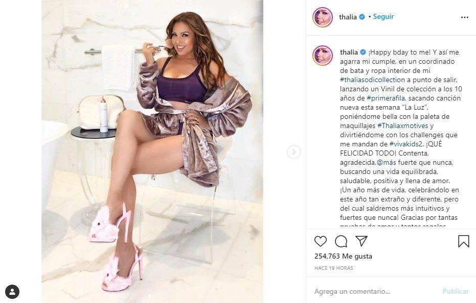 ¡Buenísima! Thalía llegó a 49 años y está mejor que nunca