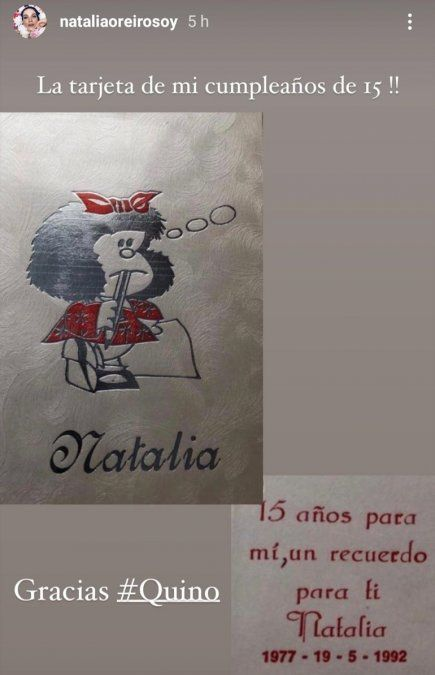 La fiesta de 15 años de Natalia Orerio fue temática de Mafalda