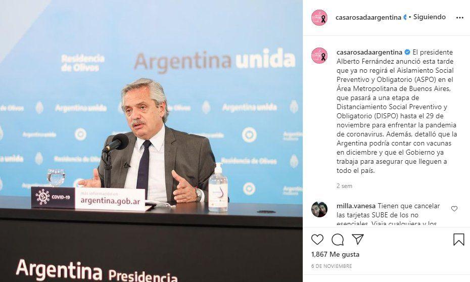 El pasado 6 de noviembre el presidente Alberto Fernández anunció por última vez los protocolos de Dispo