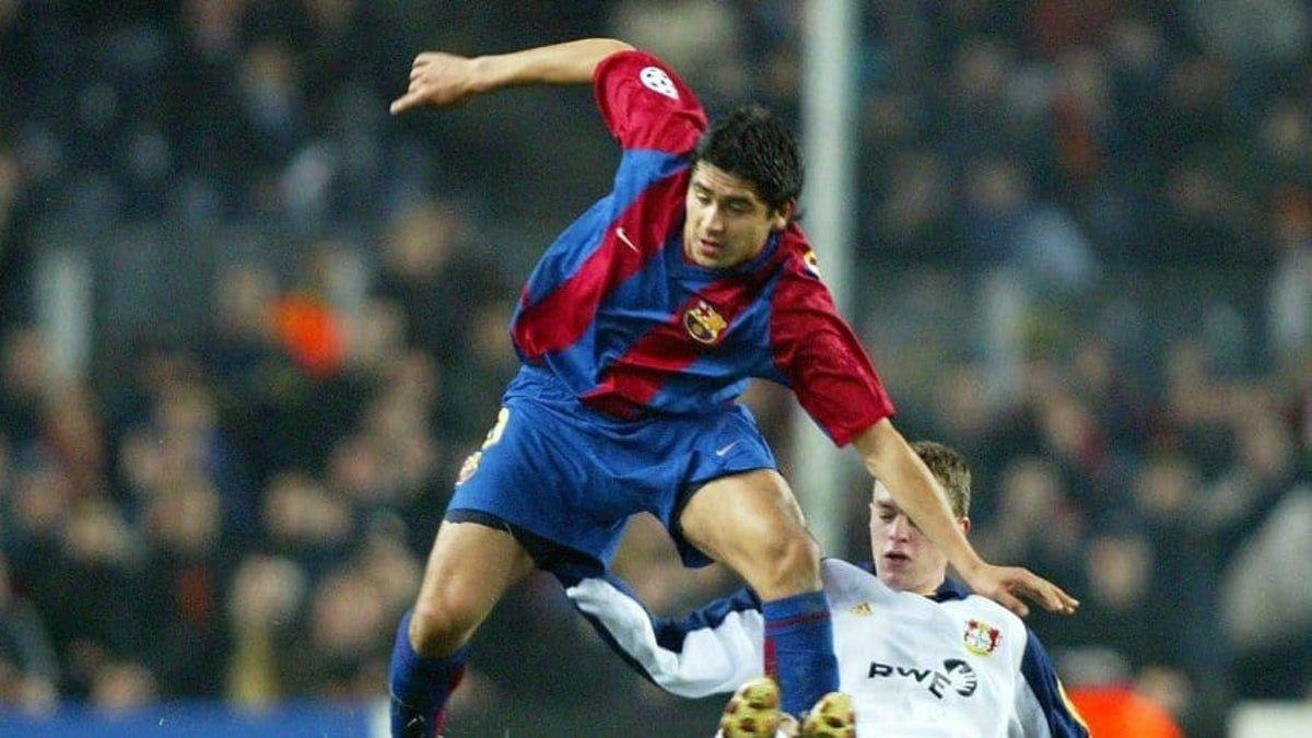 Juan Román Riquelme jugó con el Barcelona en la temporada 2002-2003