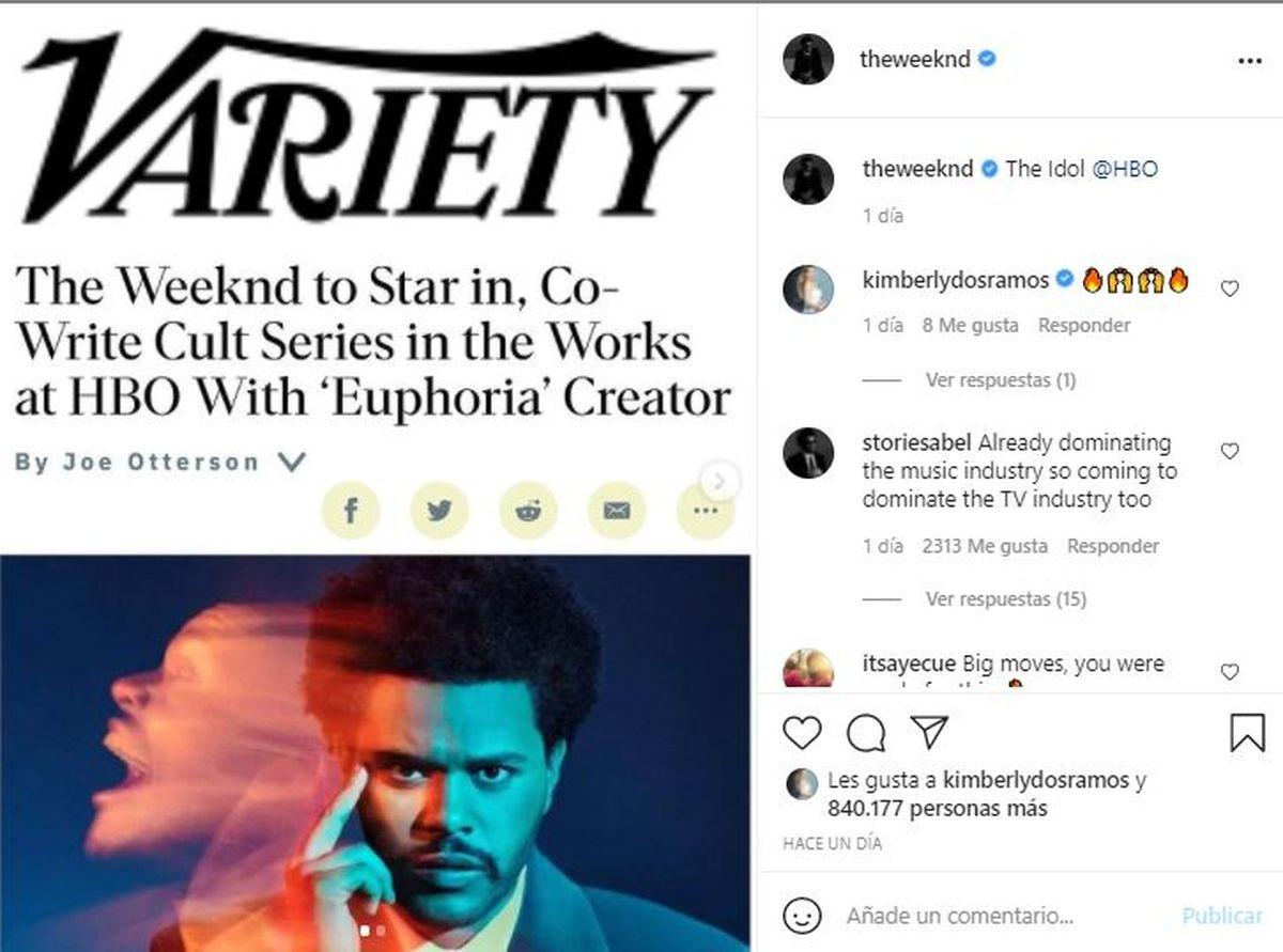 El músico The Weeknd debutará como actor en una serie de HBO