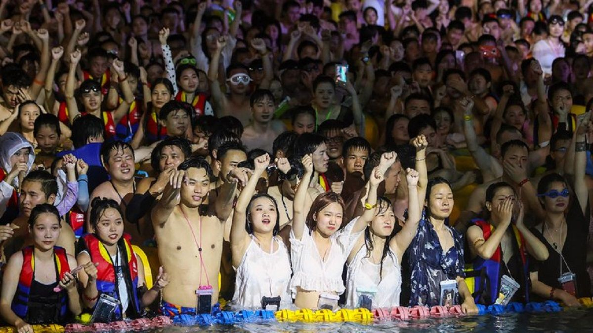 Los chinos celebraron el pasado fin de semana una fiesta electrónica