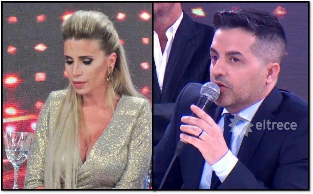 Florencia Peña rompió en llanto por una discusión con De Brito sobre su rol como jurado: No me maltrates