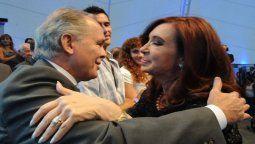Alejandro Sabella saluda a la vicepresidenta Cristina Fernández