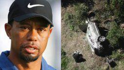¡Delicado! Tiger Woods sufrió grave accidente
