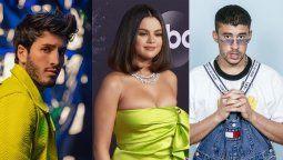 ¡Agasajados! Bad Bunny y Selena Gomez lucieron en los Premio de la Herencia Hispana