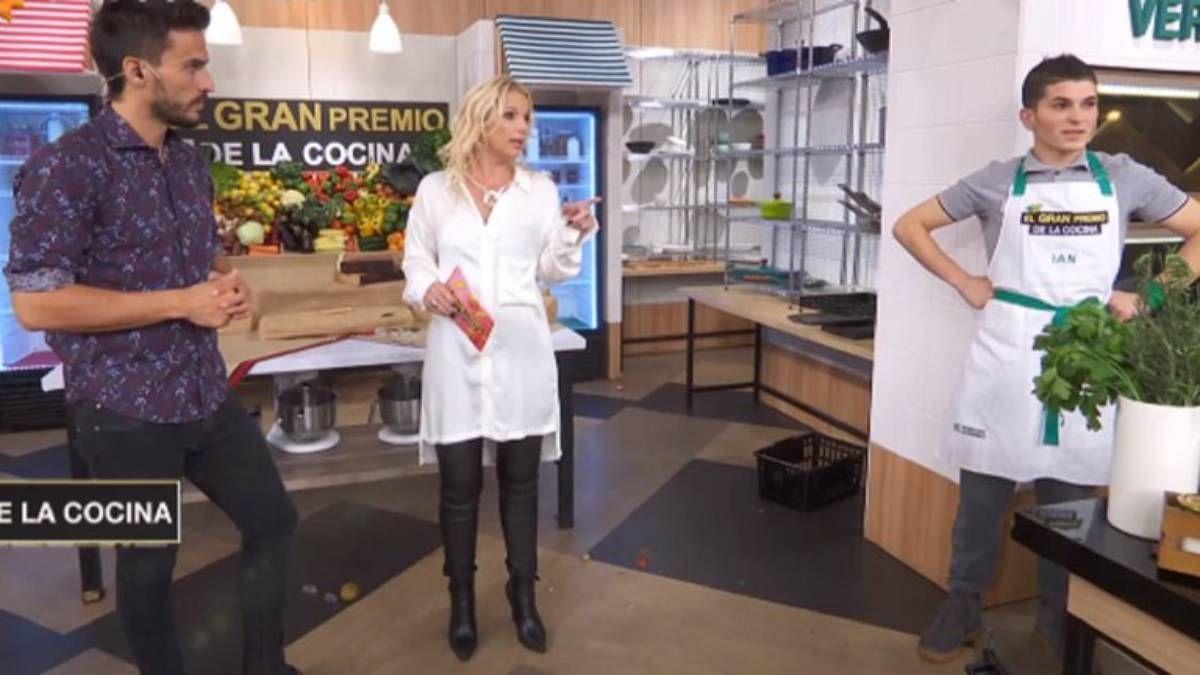 Tensión entre Carina Zampini y Juan Marconi con un participante de El gran premio de la cocina