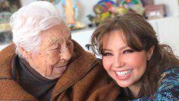 ¡Gratitud! Thalía agradece muestras de cariño para su abuela