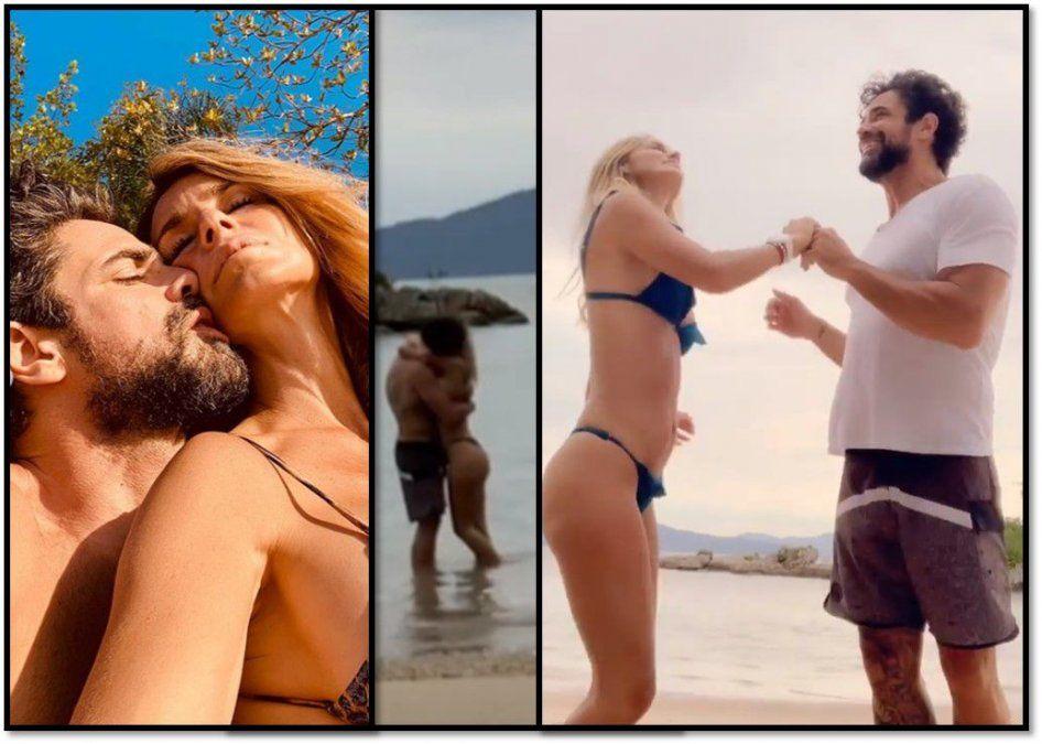 Pareja hot: Luciano Castro y Sabrina Rojas, fotos y baile sensuales en la playa