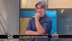 Pachu Peña no aguantó la risa al presentar su diseño en Corte y Confección