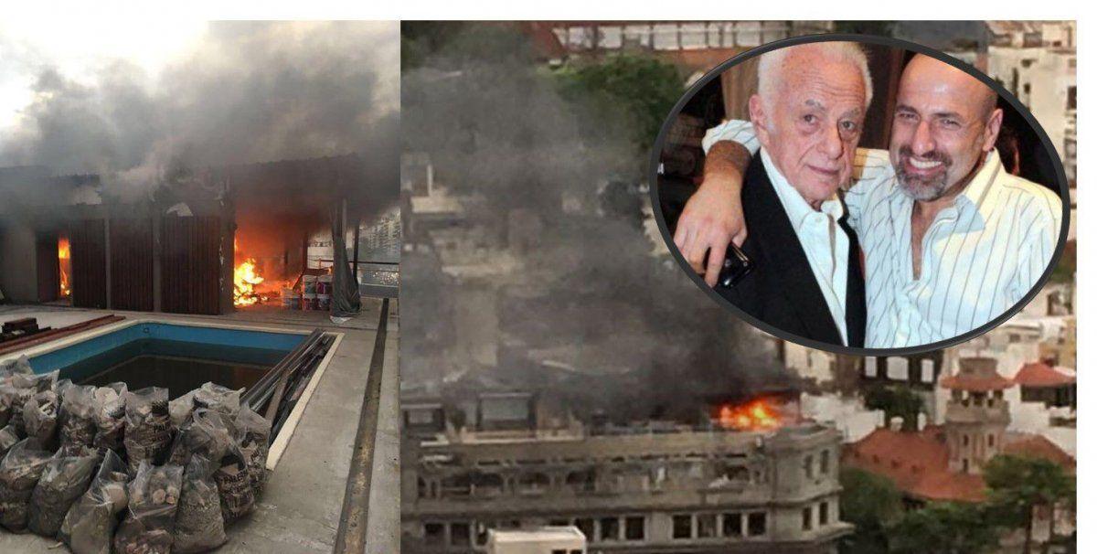 Se incendió el departamento de Gerardo Sofovich, su hijo estaba adentro y pudo escapar