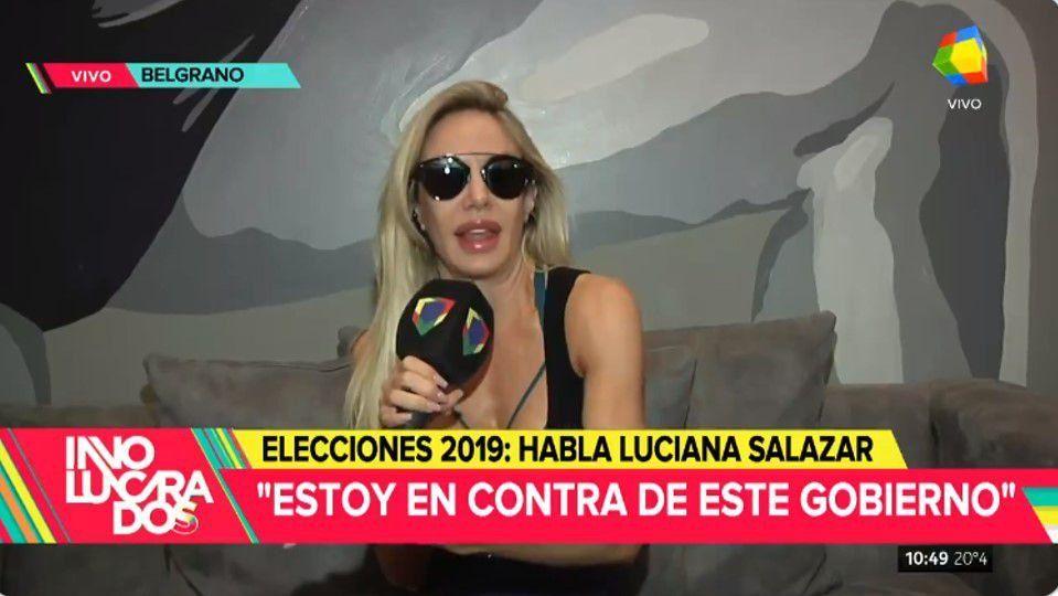 Luciana Salazar denunció: Me sentí hostigada por este gobierno