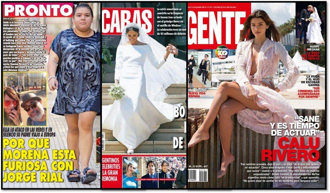 Morena Rial, Calu Rivero y la boda real en las tapas de revistas de la semana