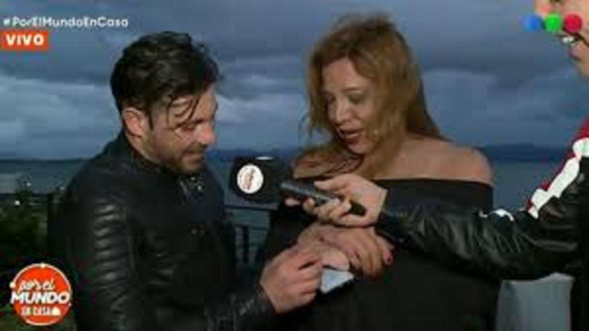 Leo Alturria se comprometió en vivo con Lizy Tagliani