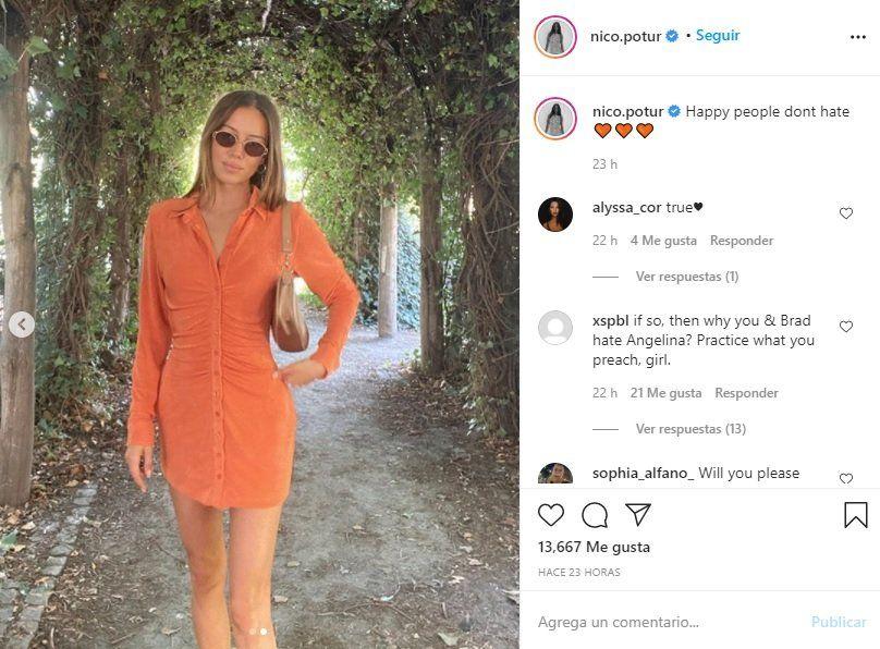 ¿Angelina Jolie recibe una indirecta de la novia de Brad Pitt?