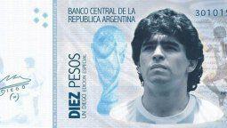 Se presentó un proyecto para incluir el rostro de Diego Maradona en los billetes de 1000
