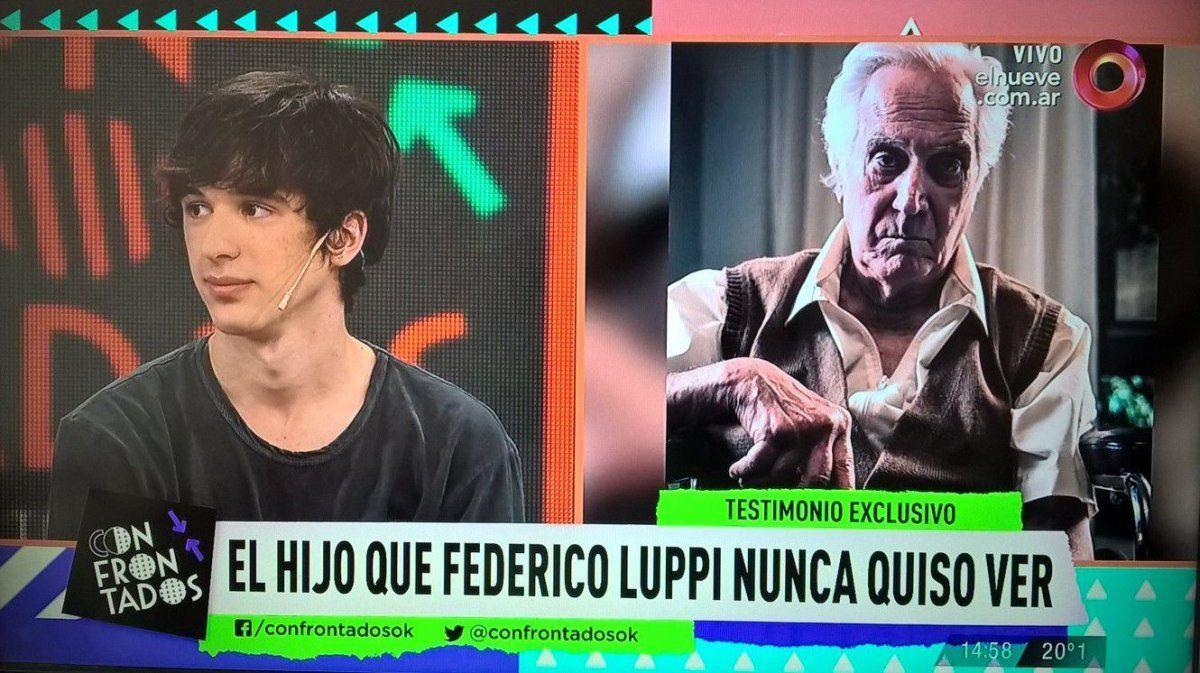 Apareció por primera vez el hijo no reconocido de Federico Luppi: No lloré su muerte, no siento nada por él