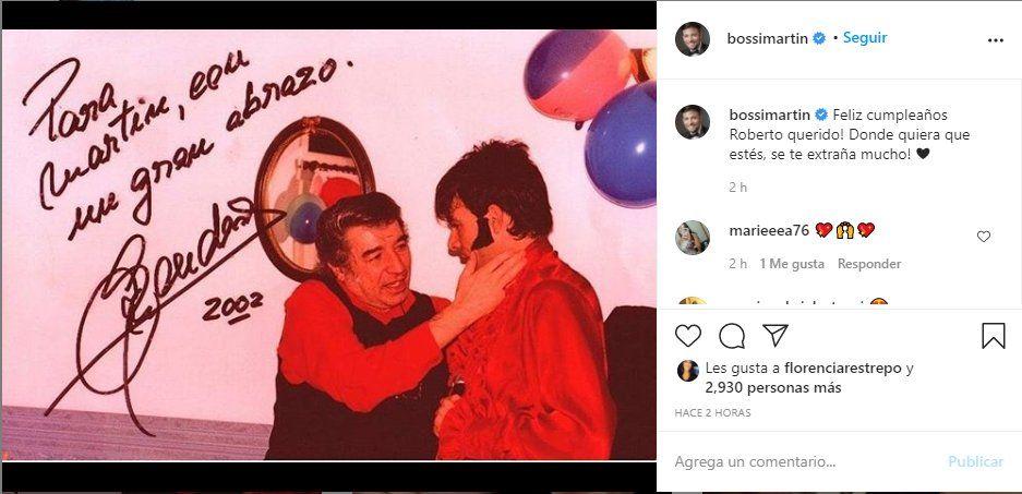 Martín Bossi envió un sentido mensaje a Sandro en las redes sociales