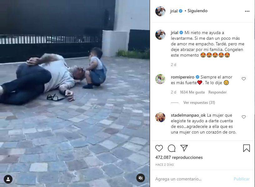 Este es el video que posteó Jorge Rial junto a su nieto Francesco Benicio