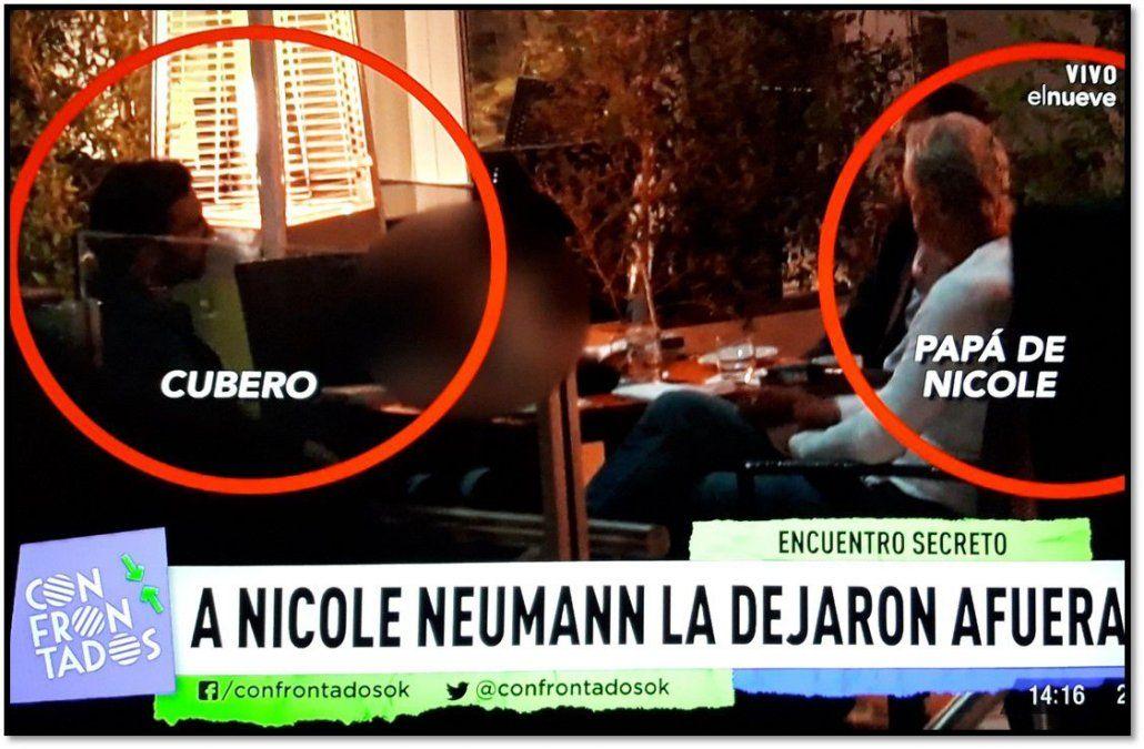 La traición a Nicole: su ex Poroto Cubero cenó con su padre, y la dejaron afuera