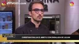 Video: Christian Petersen le puso los puntos a un participante de El gran premio de la cocina