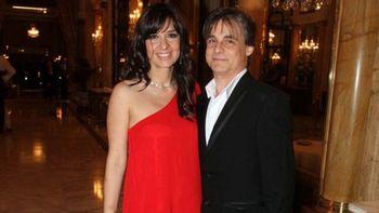La periodista Edith Hermida junto a su pareja, Roberto Fernández