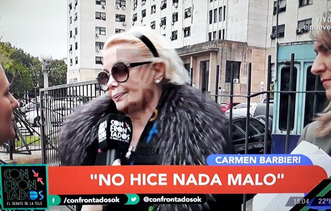 Carmen Barbieri en tribunales: empieza a cumplir una probation; deberá cocinar para 190 personas