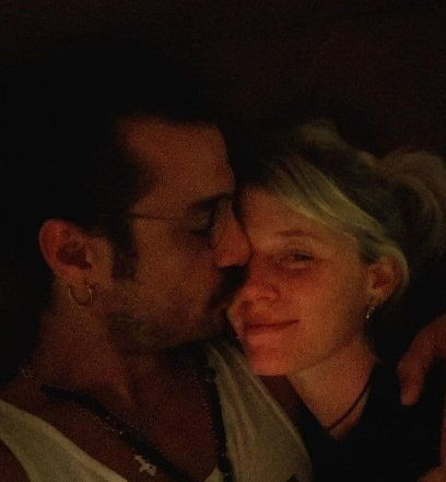 Daniel Osvaldo y su novia