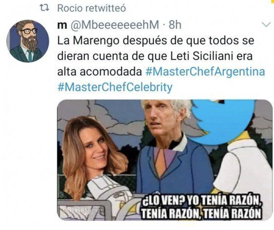 Rocío Marengo en Twitter