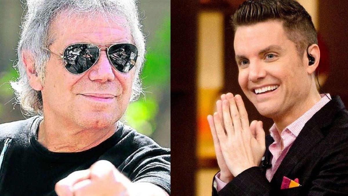 Los conductores de televisión Beto Casella y Santiago del Moro
