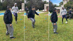 ¡Con todo! Diego Maradona se está entrenando como un joven