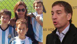 Los hijos de Diego Santilli tienen coronavirus