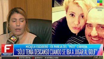 La ex de Pato Cabrera habló de la violencia que vivió cuando estaban juntos