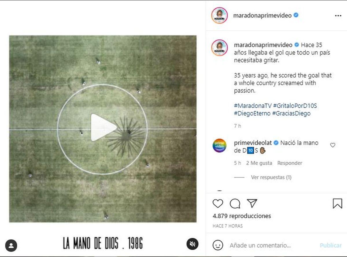 A través de la red social Instagram Amazon reveló un nuevo trailer de la serie de Diego Maradona
