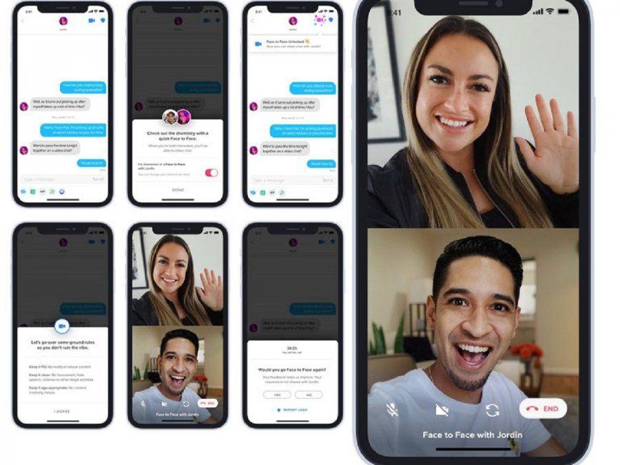 Así se verían las videollamadas dentro de la aplicación de citas: Tinder