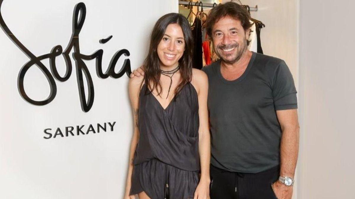 Ricky Sarkany junto a su hija Sofía