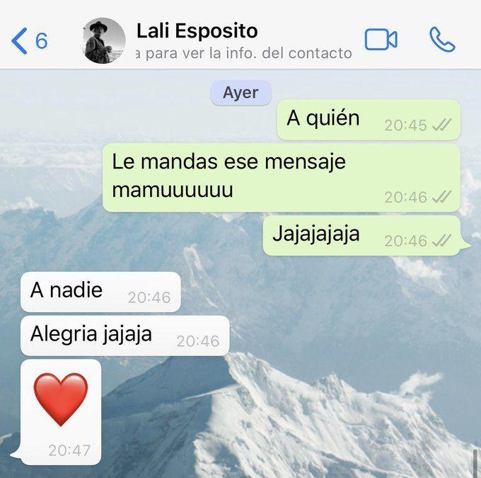 La respuesta de Lali Espósito a Jey Mammon