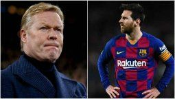 Lionel Messi está enchufado y metido, dijo Ronald Koeman