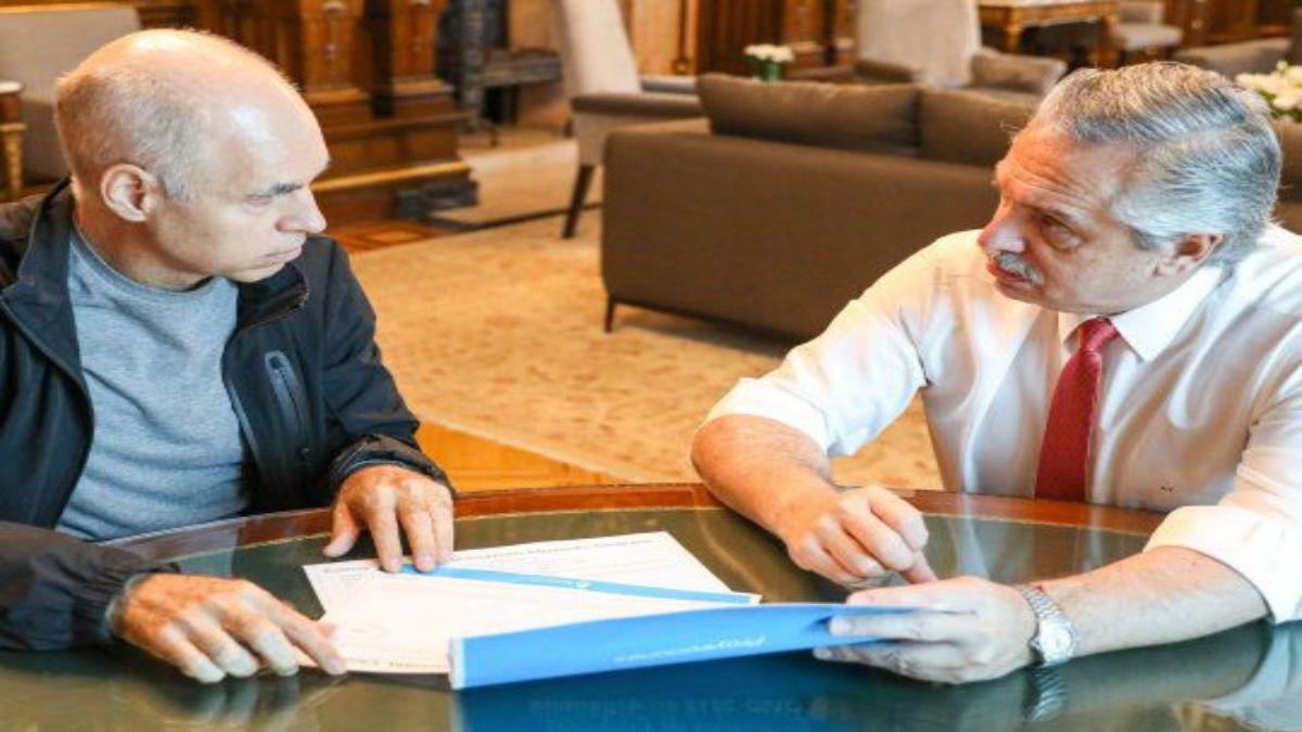 Alberto Fernández y Horario Rodríguez Larreta se reunieron durante 40 minutos para analizar la cuarentena