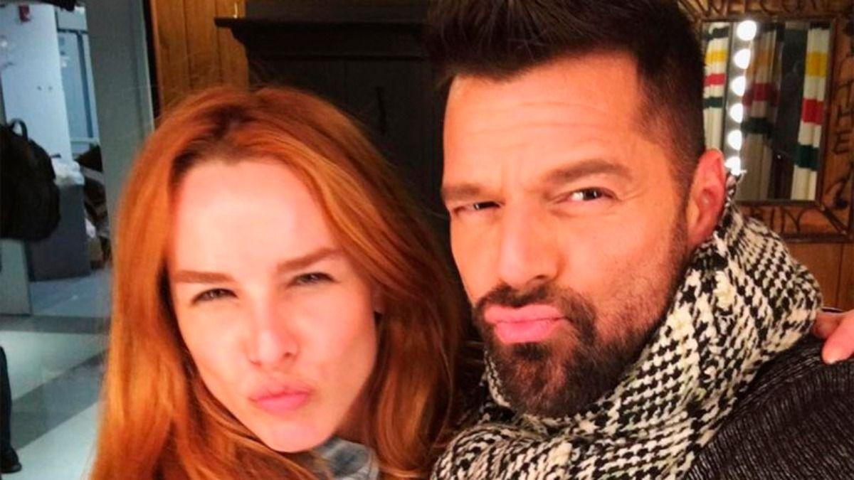Ricky Martin junto a la influencer Eglantina Zingg