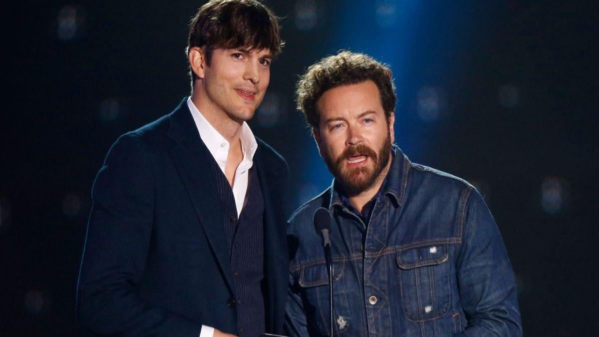 El actor Danny Masterson junto a su amigoAshton Kutcher.