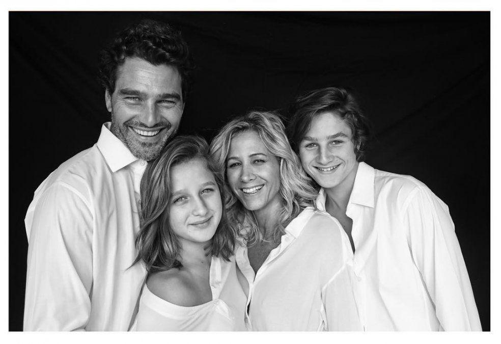Hernán Drago y su familia