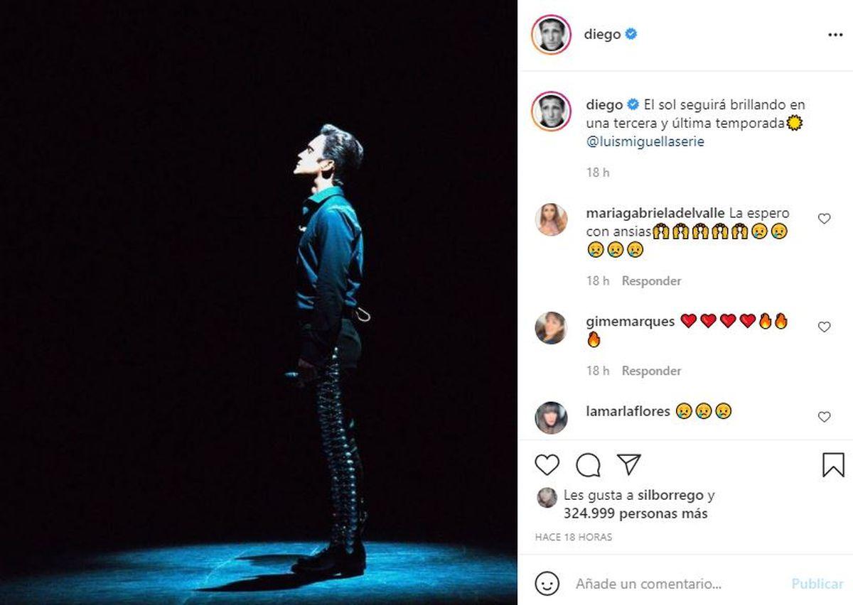 Diego Boneta confirmó que habrá una tercera temporada en Netflix de la serie Luis Miguel
