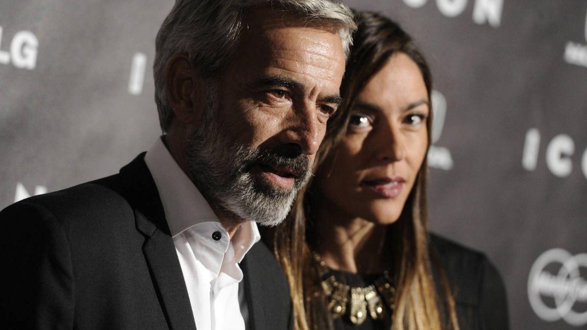 El actor Imanol Arias junto a su ex pareja Irene Meritxell