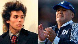 El artista Axel Caniggia rindió homenaje a su amigo Diego Maradona