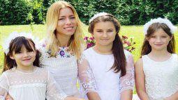 Nicole Neumann con sus tres hijas. Según Nico Magaldi, la mayor de las niñas tiene coronavirus