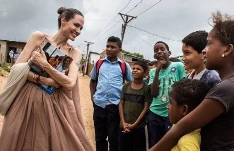 Angelina Jolie durante una visita a Colombia como embajadora de Naciones Unidas
